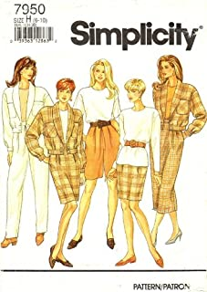Simplicity 7950 Sewing Pattern Pants Shorts Skirt Top Jacket Size 6-8 - 10