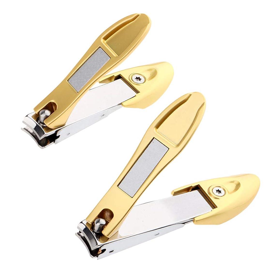 フィードオンモザイク専らCUTICATE 爪切り つめきり ステンレス製 厚い爪/巻き爪 に最適切れ 飛び散り防止 携帯便利 2個入り