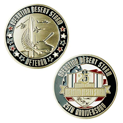 Operation Desert Storm Veteran 25th Anniversary Challenge Coin