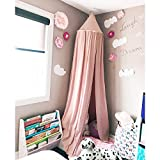 Maydolly Baby's Cotton Bed Curtains Kid's Dome Bed Canopy(Pink)