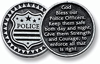 DOZEN (12) POLICE OFFICER Police Man Woman - Pewter POCKET Tokens 1
