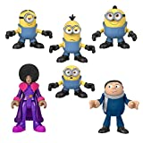 Fisher-Price Imaginext Minions The Rise of Gru Figure Pack, Set of 6 Film Character Figures for Preschool Kids Ages 3-8 Years