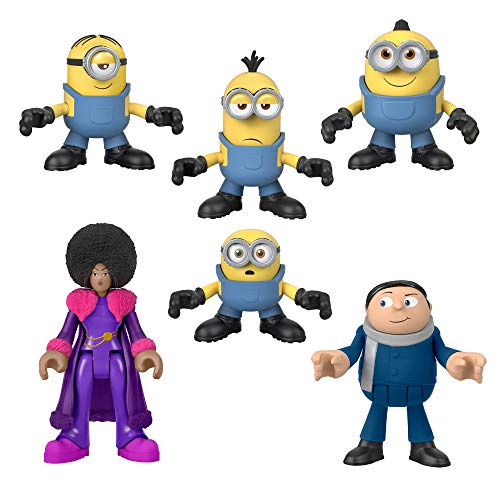 Imaginext Minions: The Rise of Gru Figure Pack, set of 6 film character figures for preschool kids ages 3-8 years