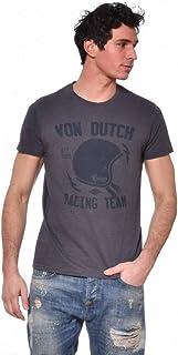 Von Dutch Helm - Maglietta da uomo, colore: Grigio