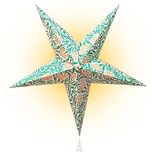 Happy Sales HSSL-FMWHTA Frozen Moon Paper Star Lantern...