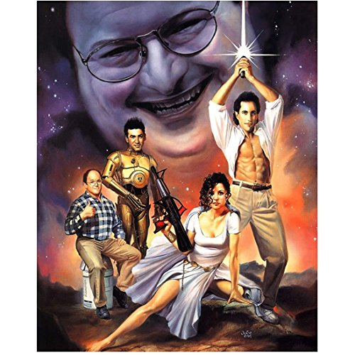 Seinfeld Star Wars Inspired Montage with Newman as the Emperor 8 x 10 Inch Photo