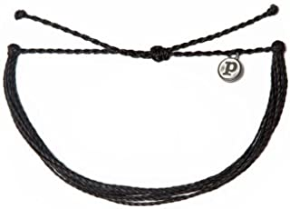 Pura Vida Jewelry Bracelets Solid Bracelet - 100% Waterproof and Handmade w/Coated Charm, Adjustable Band