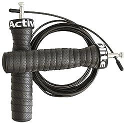 ActiveElite - Profi Springseil mit Kugellager für Sport & Fitness - Ideal für: Boxen, Crossfit, MMA, WOD - Bonus: Transporttasche (Pink)