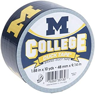 Duck Brand 281600 University of Michigan College Logo Duct Tape, 1.88-Inch by 10 Yards, Single Roll