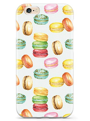 Inspired Cases - 3D Textured iPhone 6 Plus/6s Plus Case - Rubber Bumper Cover - Protective Phone Case for Apple iPhone 6 Plus/6s Plus - Watercolor Macaroons Pattern - White