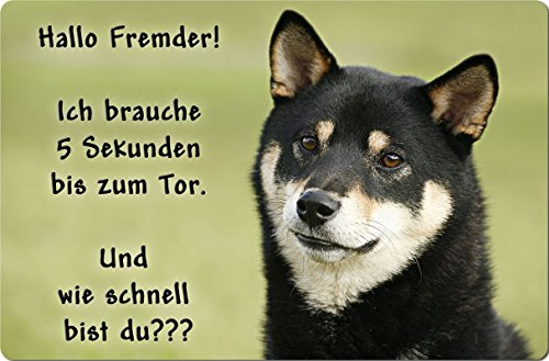+++ SHIBA INU - Metall WARNSCHILD Schild Hundeschild Sign - SBA 04 T14