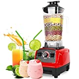 Wsaman Batidora Licuadora Vaso, Extractor de nutrientes 3 Velocidades 6 Cuchillas Limpieza Fácil para Frutas/Batidos/Milkshake/Smoothies Etc Bio Chef