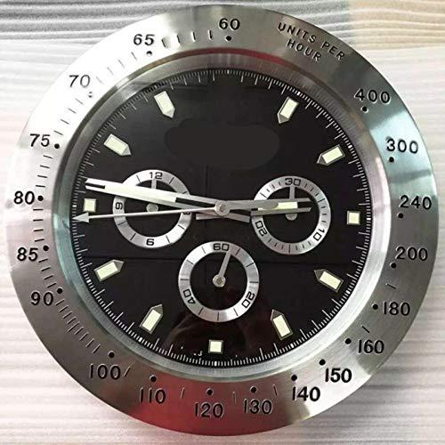 WAMZD Reloj de Pared de Barrido súper silencioso Diseño Moderno Reloj de Pared Rolexes de Oro Rosa Reloj de Pared de Acero Inoxidable para el hogar Reloj Luminoso