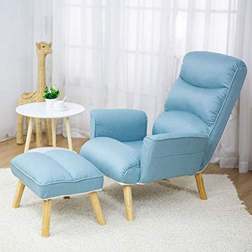 Qichengdian Sessel Beanbag Klappstuhl Ottoman Modernes Und Komfortables Wohnzimmer Büromöbel Club Ist for Das Schlafzimmer Geeignet Weinleselehnsessel (Color : Light Blue, Size : Free Size)