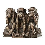 Design Toscano PD0093 Hear No See No Speak No Monkeys