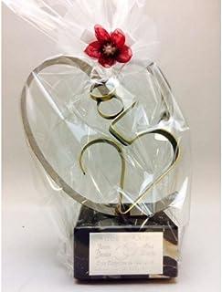 84aa13d3 Regalo para bodas de plata GRABADO figura corazón 25 aniversario regalos  PERSONALIZADOS