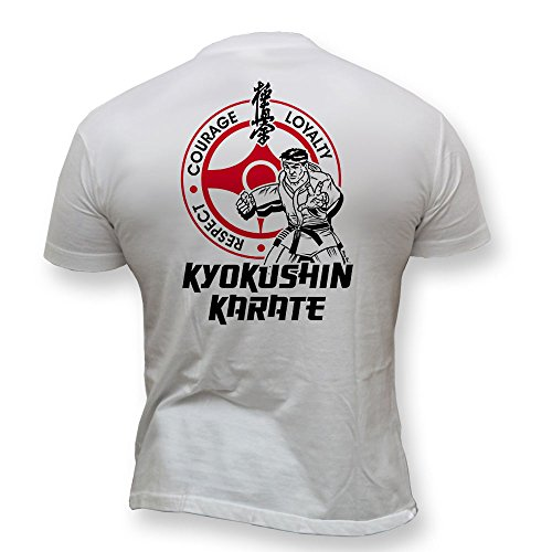 Dirty Ray Kampfsport MMA Kyokushin Karate Herren Kurzarm T-Shirt K48 (XXL)