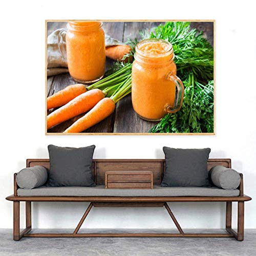 Lcgbw Fruitsap, levensmiddelen, schilderijs, dranken, citroenen, posters en drukken, citroenkeuken, decoratie, moderne muurkunst afbeelding 30x60cm zeildoek.
