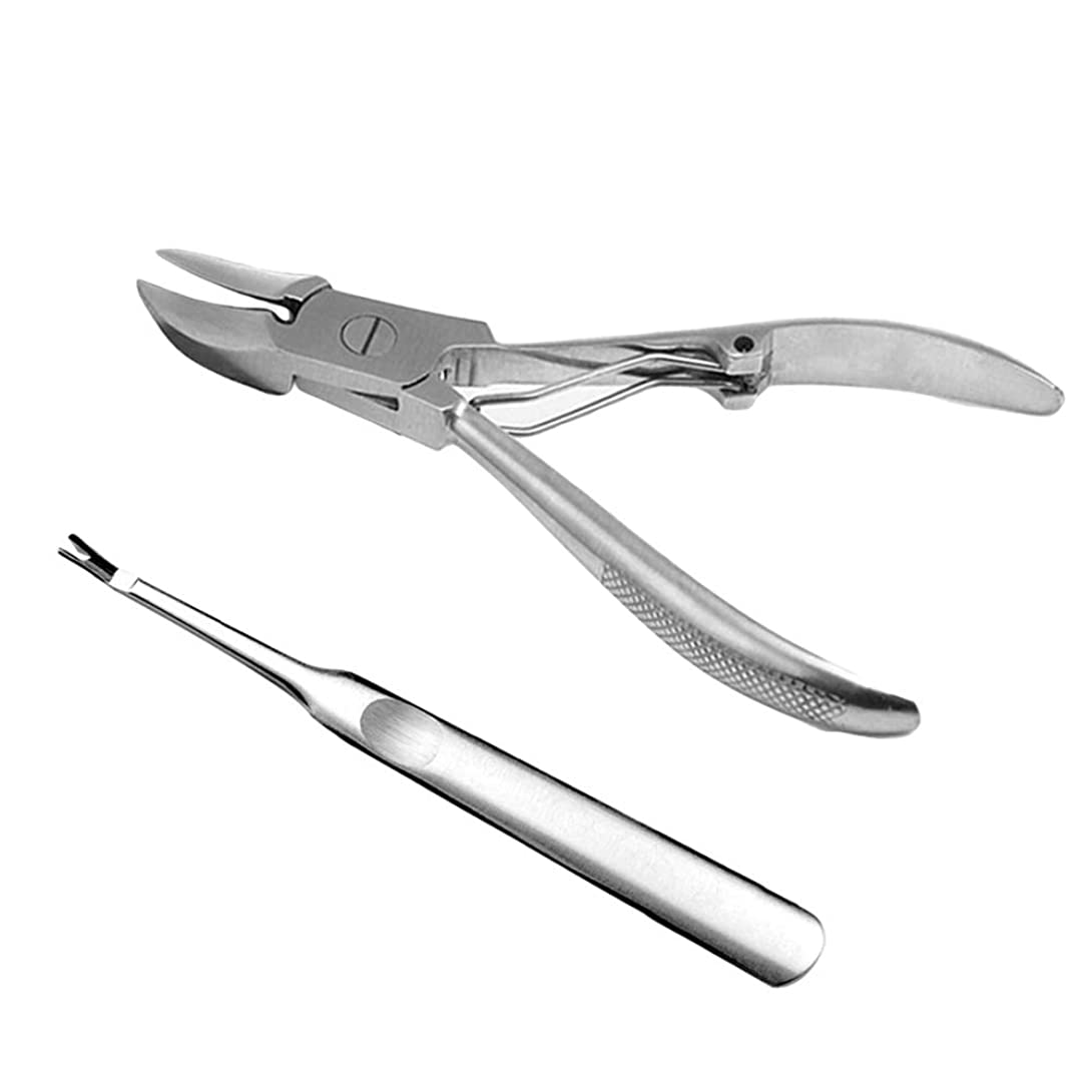 世論調査アスレチック有効なBeaupretty キューティクルリムーバーステンレス鋼スキンプライヤーネイルニッパーバリカンカッターペディキュアツール爪の爪足の爪2ピース