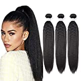 Tissage Bresilienne Lisse Yaki Meches Tissage Remy Hair Bundles 300g Grade 7A Qualité Brazilian Kinky Straight Weaves Human Hair...