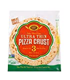 Golden Home Ultra Thin Pizza Crust, Low Carb, Low Fat, Non-GMO Wheat (3 Crusts)