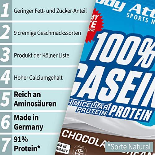 Body Attack 100% Casein Protein Cookies & Cream, 1er Pack (1 x 1.8 kg) - 3