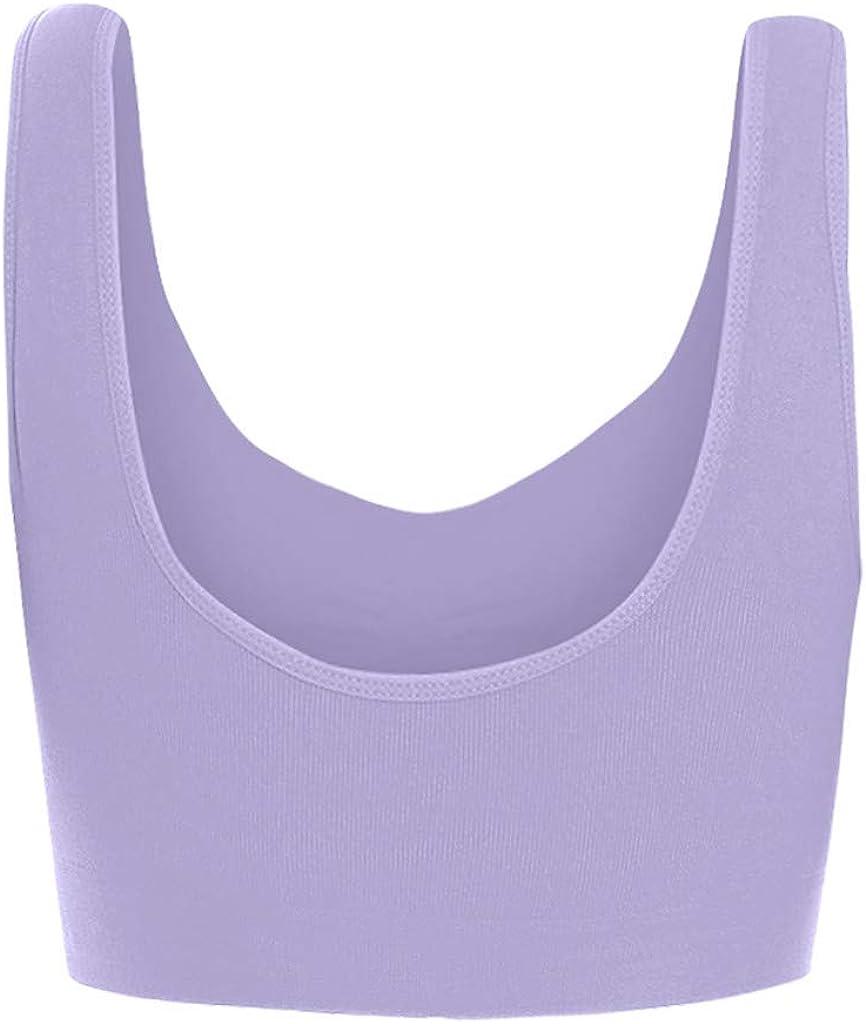 MODOQO Women's Plus Size Ultra-Thin Large Bra Sports Bra Full Bra Cup Tops 3Pcs