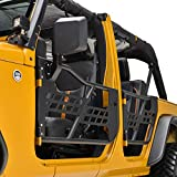 EAG Safari Tubular Door with Side View Mirror Fit for 07-18 Wrangler JK 4 Door Only