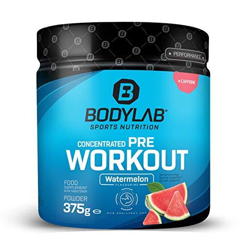 Bodylab24 Concentrated Pre-Workout Booster Wassermelone 375g, Energy-Booster mit Kreatin, Beta-Alanin, Arginin, Niacin und Koffein im optimalen Verhältnis für mehr Power und Energie im Training