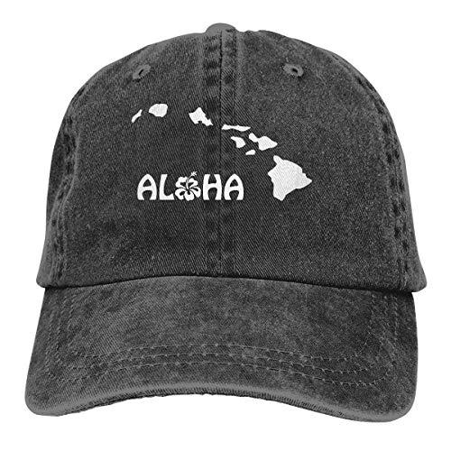 Hoswee Unisex Kappe/Baseballkappe, Aloha Hawaii Men/Women Washed Adjustable Baseball Cap Jeanet Back Closure Dad Caps