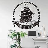 WERWN Arte de Moda Creativo Barco Vikingo Vinilo Escandinavo Pared Niño Dormitorio Regalo