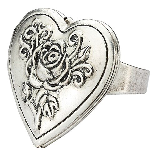 JOE COOL Ring with Heart Locket Made with Tin Alloy