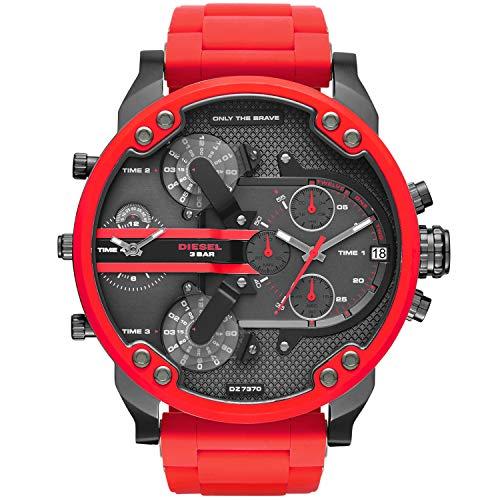 Diesel Herren Analog Quarz Uhr mit Edelstahl Armband DZ7370