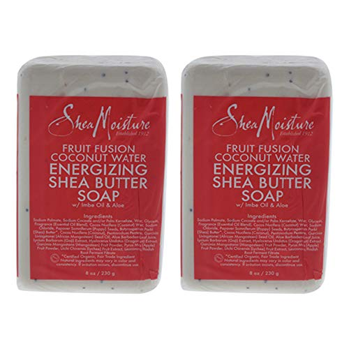 Organic Shea Moisture Fruit Fusion Energizing Shea Butter Soap 8 Oz. - Set of 2