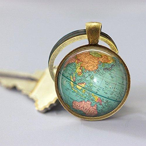 Globus, Weltkarte Erde und Schlüsselanhänger, Auto-Zubehör