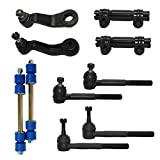 New Complete 10-Piece Front Suspension Kit GMC Trucks 4x4 10-Year Warranty- All (4) Inner & Outer Tie Rods, 2 Sway Bar Link, 2 Adjustment Sleeve, Both (2) Pitman Arm & Idler Arm…