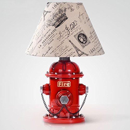 CJH Harz Tischlampe Persönlichkeit Amerikanischen Stil Schlafzimmer Nachttischlampe Einfache Hydrant Wohnzimmer Studie Schreibtischlampe Lighting