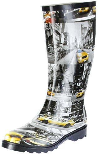 ConWay Gummistiefel schwarz Regenstiefel Damen Stiefel Schuhe N.Y.Taxi, Farbe:schwarz, Größe:39 EU