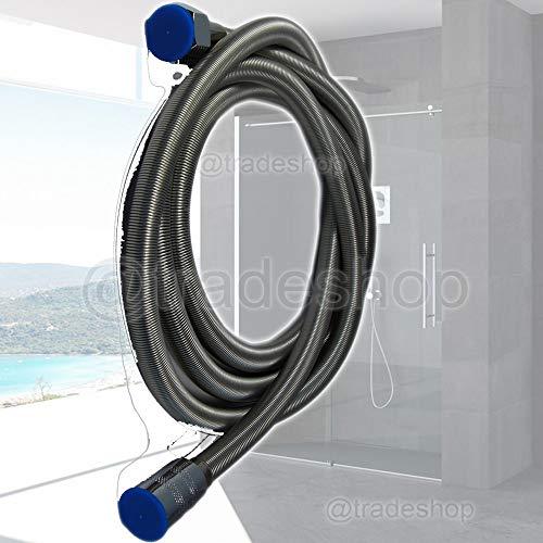 Trade Shop flexibler Duschschlauch, verdrehsicher,  wasserfest, für Duschkabine, verchromt, 2 m