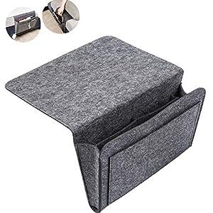 Nifogo Organizador de sofá, para Dormitorio, sofá, Cama, Bolsillo de Fieltro Antideslizante (Gris Oscuro)