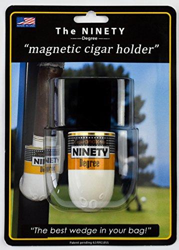 Ninety Degree Wedge The The Ultimate Premium & Versatile, Magnetic Cigar Holder - White