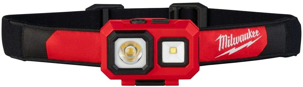 Milwaukee 2104 Spot Flood 450 Lumens Adjustable Hard Hat Headlamp Light