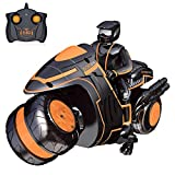 Remote Control Motorcycles Rc Motorcycle, 360° Spinning Action Rotating Drift Stunt Motorbike 2WD High Speed Rc Motorbikes 2.4Ghz Radio Control Racing Motorcyle with Riding Figure Toys for Kids Boys
