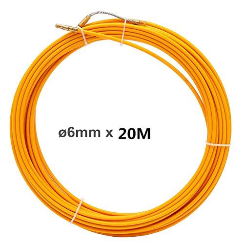 No logo HXIANG 10M 20M 30M 6mm-tabel apparaten glasvezel elektrische kabel push-trekker Reel Duct slang rodder intrekband draaddraadinrijging Aid-Tool