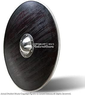 Medieval Gear Functional Round Wooden Viking Battle Shield Steel Rim 16G Steel Umbo SCA LARP