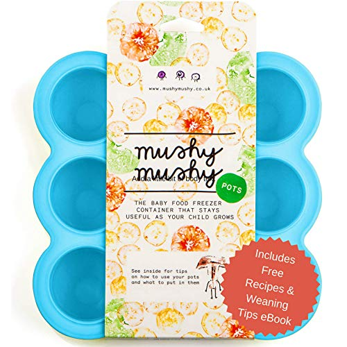 Weaning Pots by Mushy Mushy - Easy to Remove Baby Food Storage...