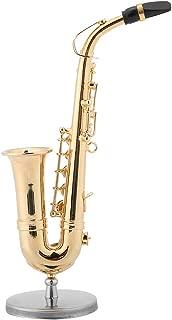 Musical Instrument Model Miniature Gold Saxophone Model Stand Saxophone Model Replica Ornaments Home Craft Decoration