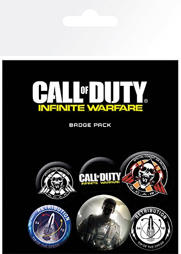 GB Eye Call of Duty Infinite Warfare Mix Badge Pack, Aluminium, Mehrfarbig