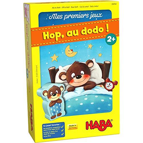 HABA Premiers Jeux – Hop, au Dodo classement et de mémoire-2 Ans et plus-304762, 304762, Multicolore