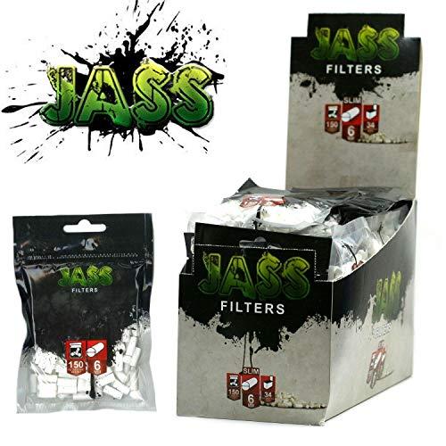 Lot de 34 sachets de 150 filtres acétane cigarette roulée JASS 6mm 5 style (style OCB, gizeh ou rizla)